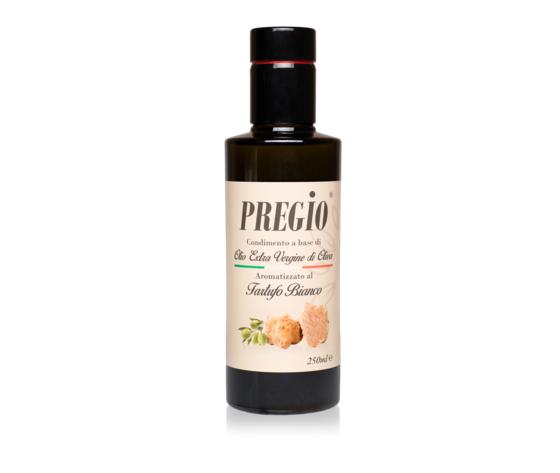 Pregio Condimento A Base Di Olio Extra Vergine Di Oliva Aromatizzato Al Tartufo Bianco 250 Ml