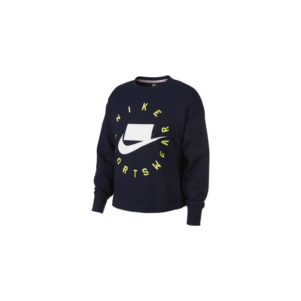 Nike Sportswear Maglia Manica Lunga French Terry Nero Donna XS