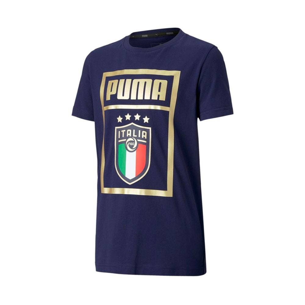Puma Maglia Maniche Corte Italia Dna Blu Oro Bambino 152