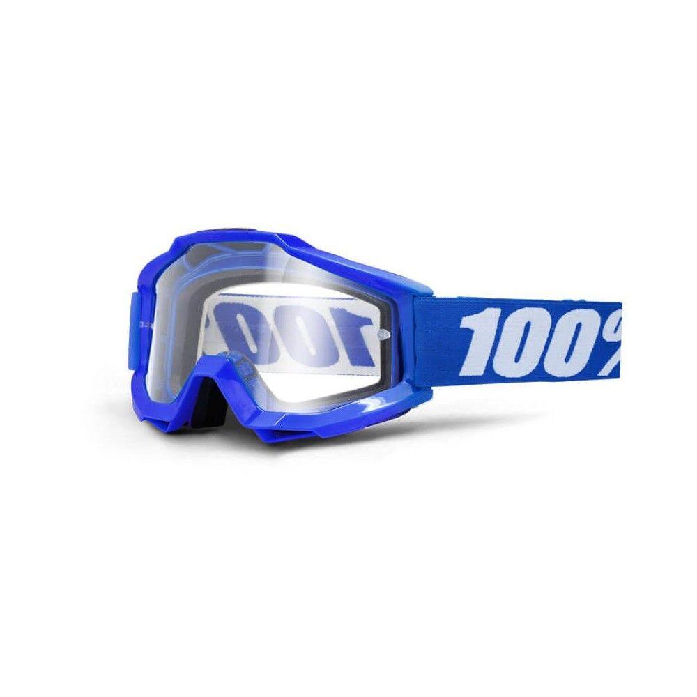 100% Maschera Antivento Bici Accuri Reflex Blue Clear Lens TU
