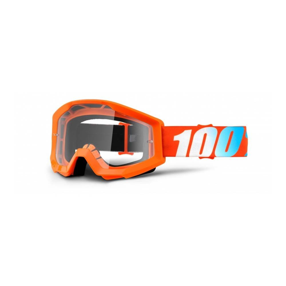 100% Maschera Antivento Bici Strata Arancio Clear Lens TU