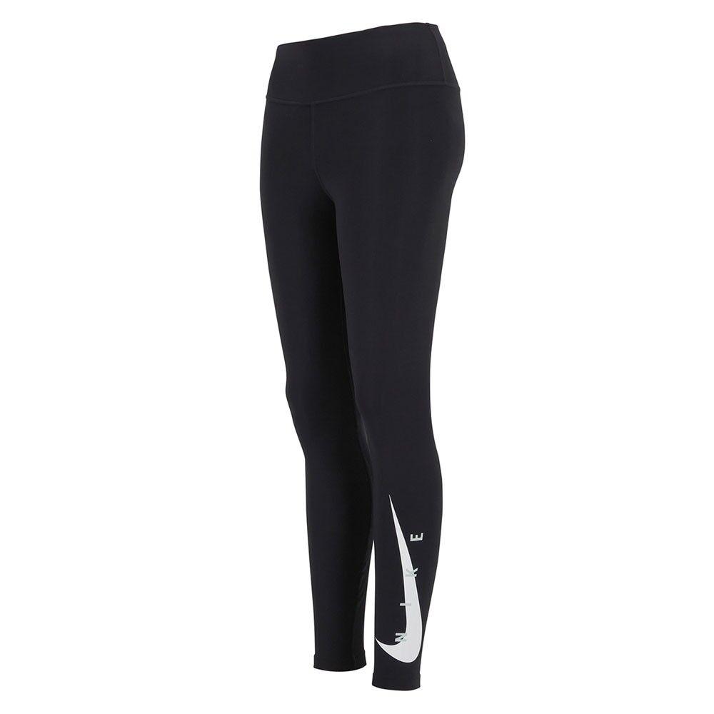 nike leggins running 7/8 swoosh nero grigio donna l