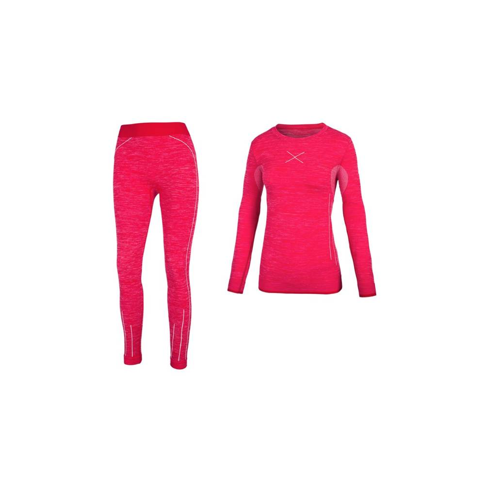 Hot Stuff Set Intimo Lungo Rosso Donna XS