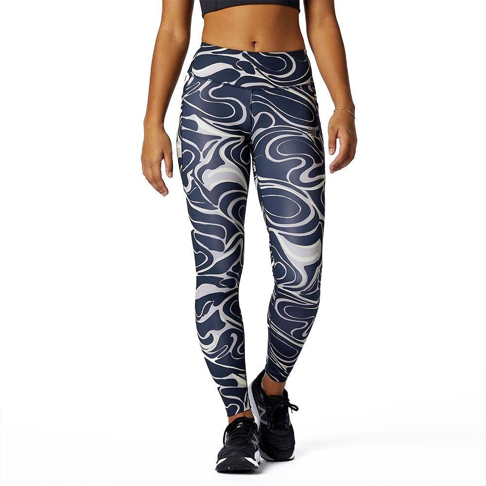 New Balance Leggings Running Impact Fantasia Blu Donna M
