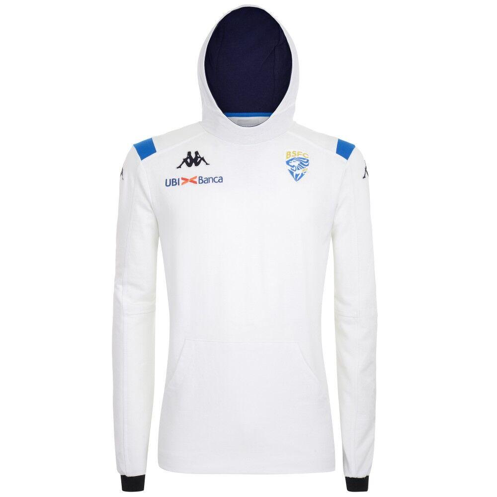 Kappa Felpa Calcio Cappuccio Brescia Team Bianco Uomo M