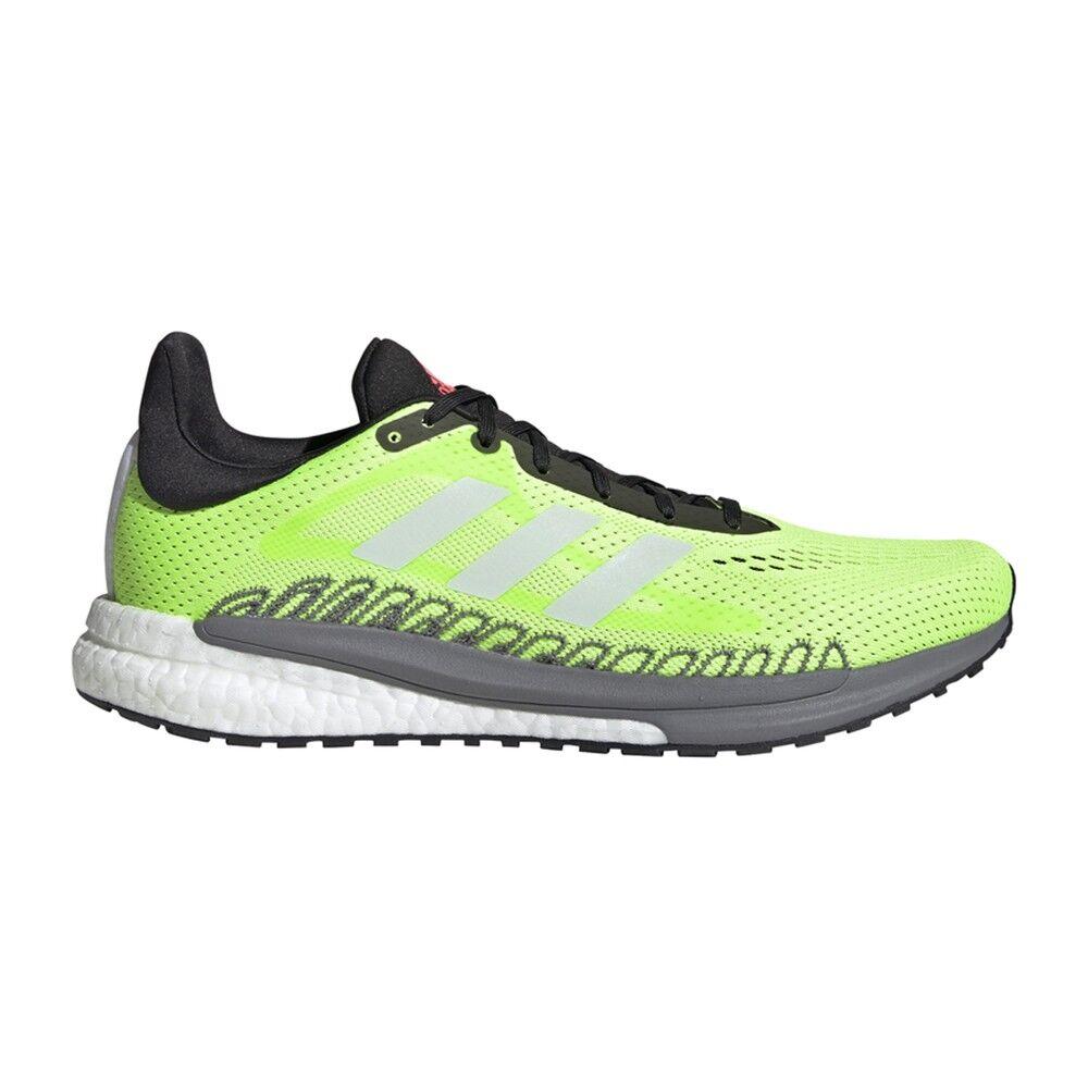 adidas scarpe running solar glide 3 signal verde core bianco uomo eur 45 1/3 / uk 10,5