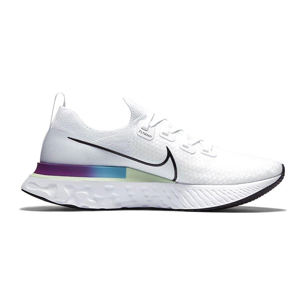 nike scarpe running epic react infinity bianco nero-vapor verde-orac uomo eur 42 / us 8,5