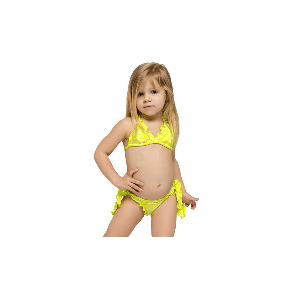 Sundek Bikini Tigrato Giallo Bambina 12 Anni