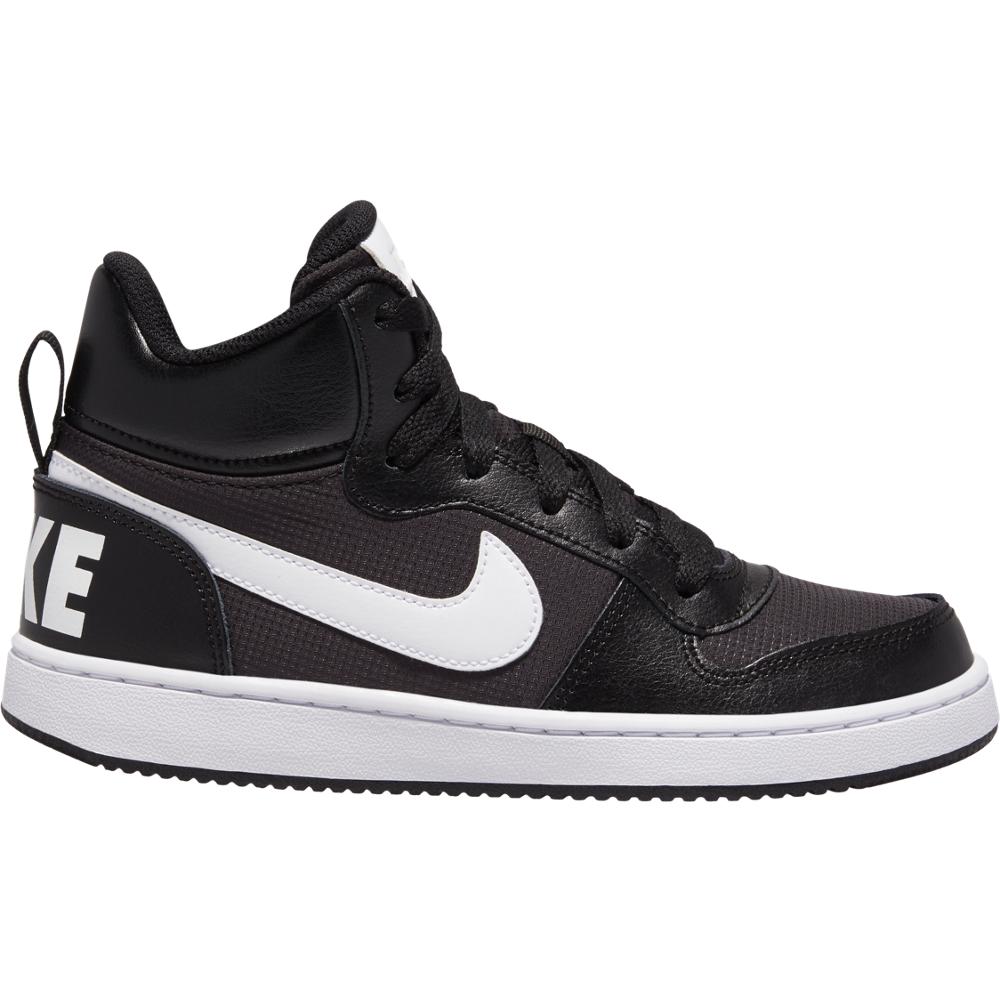 Nike Sneakers Court Borought Pe Mid Gs Nero Bianco Bambino EUR 36 / US 4Y