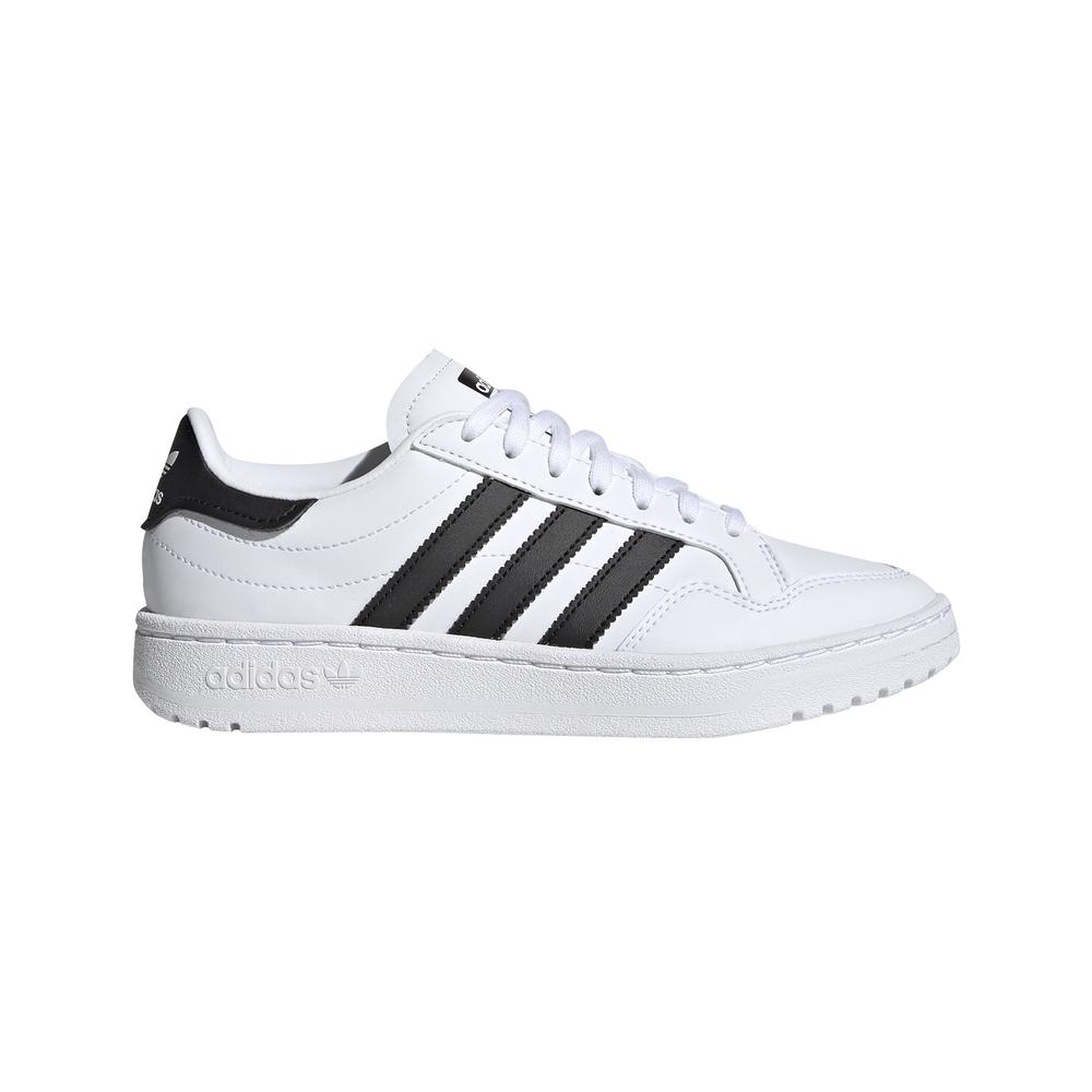 ADIDAS ORIGINALS sneakers team court gs bianco nero bambino EUR 37 1/3 / UK 4,5