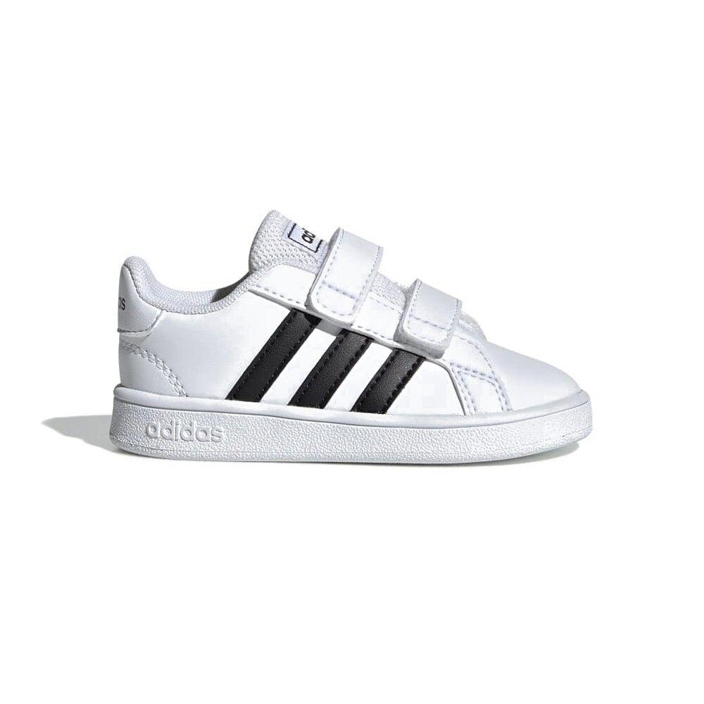 ADIDAS sneakers grand court i bianco nero bambino EUR 27
