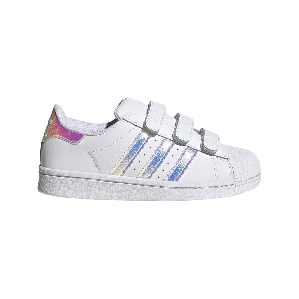 ADIDAS ORIGINALS sneakers superstar psv bianco argento bambino EUR 32