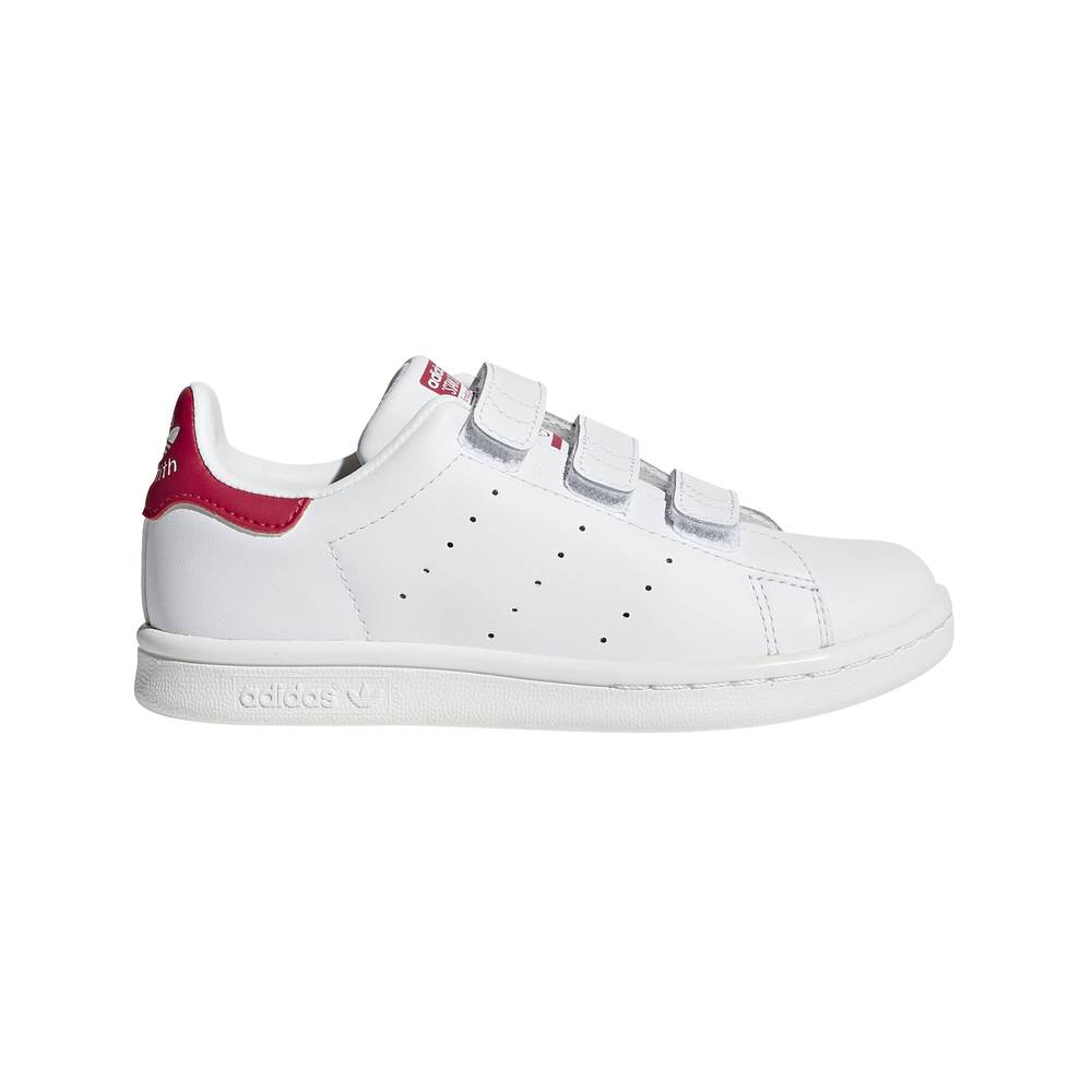 ADIDAS ORIGINALS sneakers stan smith cf ps bianco rosso bambina EUR 33