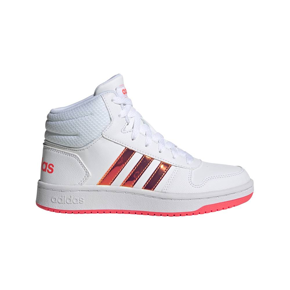 ADIDAS sneakers hoops mid 2.0 gs bianco rosa bambina EUR 36 / UK 3.5