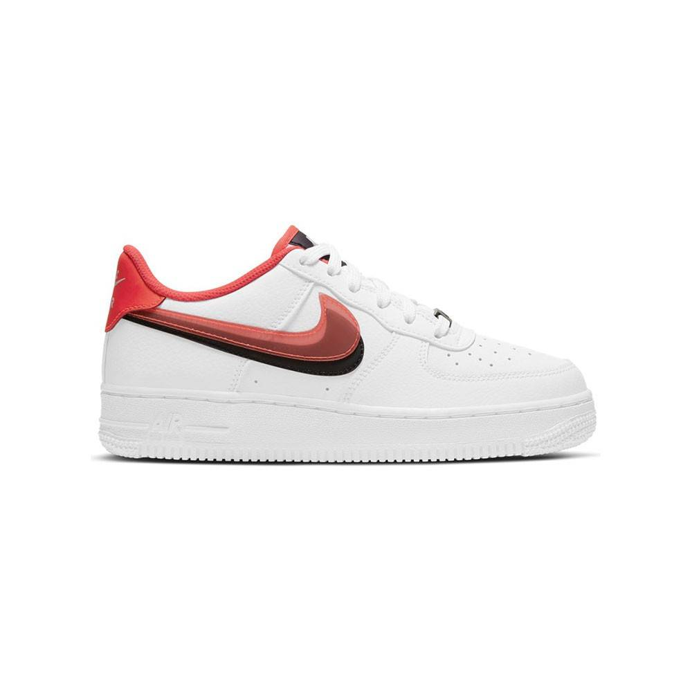 Nike Sneakers Air Force 1 Lv8 Gs Bianco Rosso Bambino EUR 38 / US 5.5Y