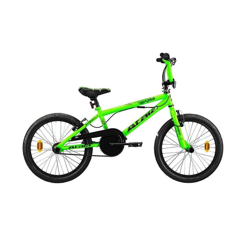 Atala Bicicletta BMX Crime Verde Fluo Nero Bambino M