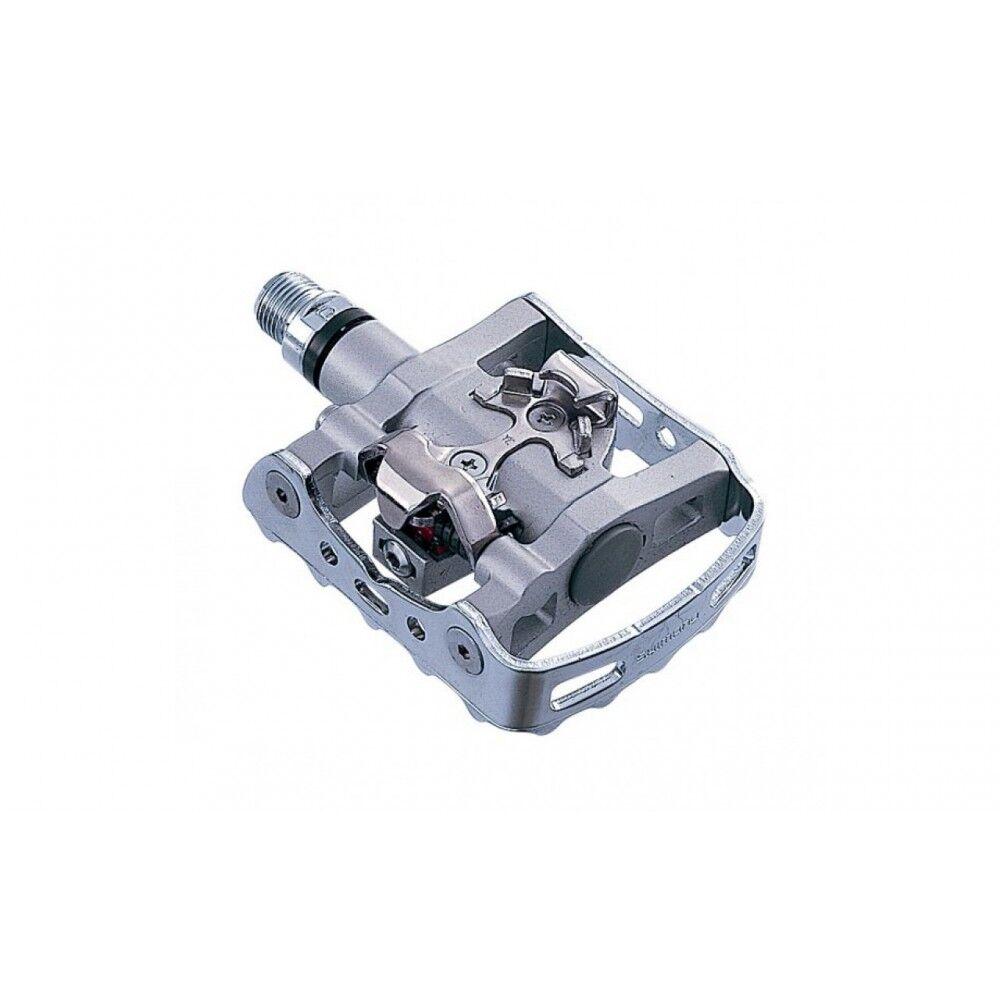 shimano pedali mtb m324 con tacchette silver sm-sh56 tu