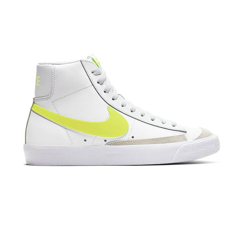 nike sneakers blazer mid '77 bianco lime donna eur 38 / us 7