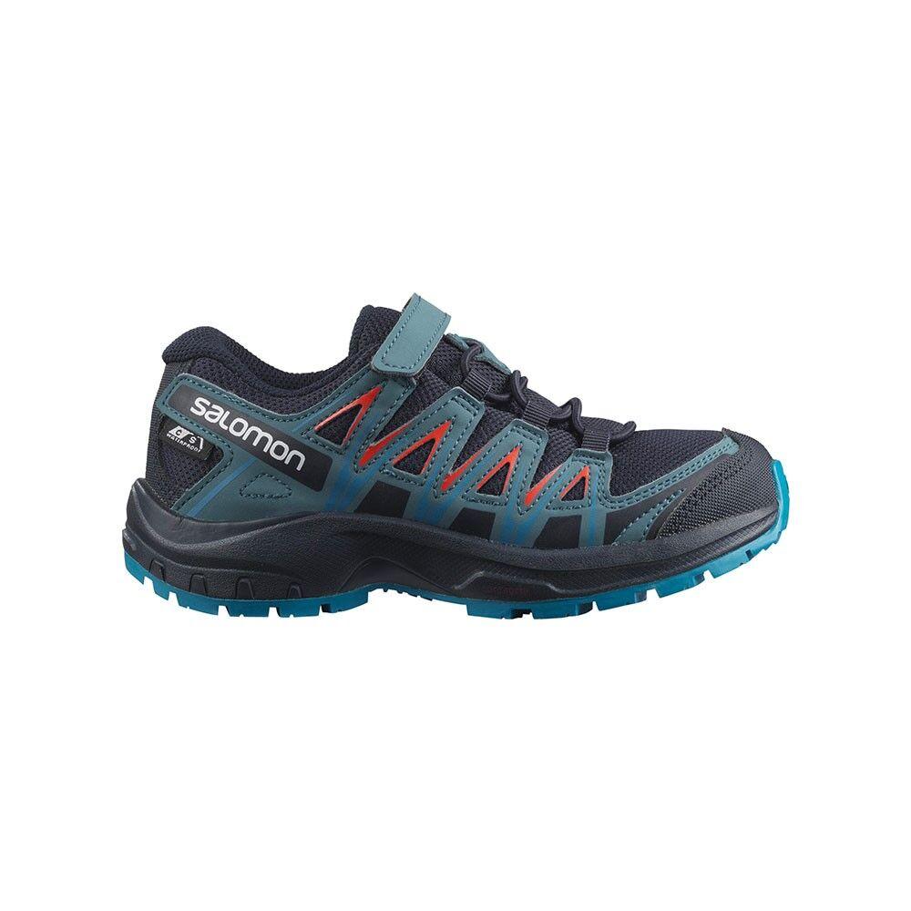 salomon scarpe trekking xa pro 3d cswp k grigio blu bambino eur 27