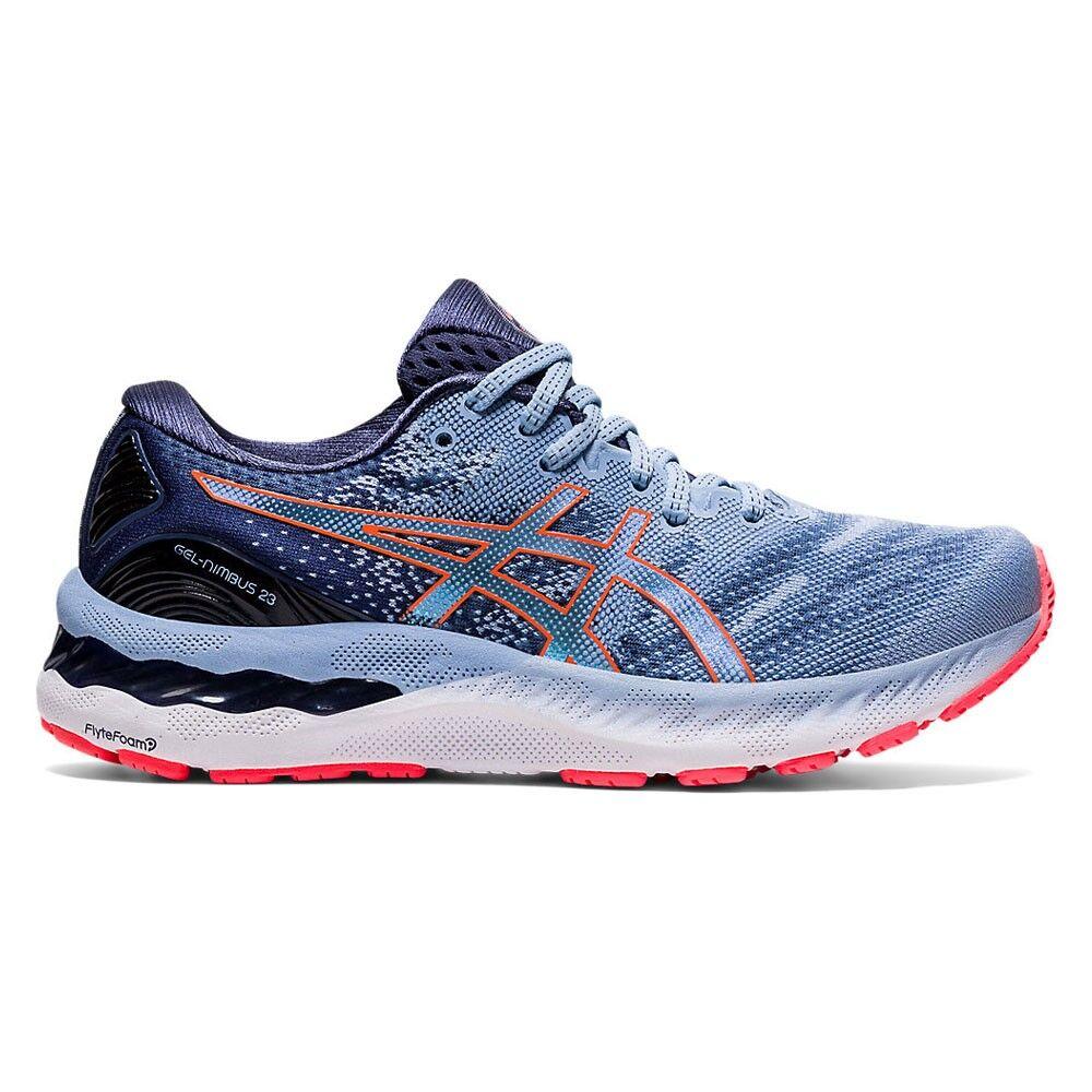 asics scarpe running gel-nimbus 23 azzurro corallo donna eur 39 / us 7,5
