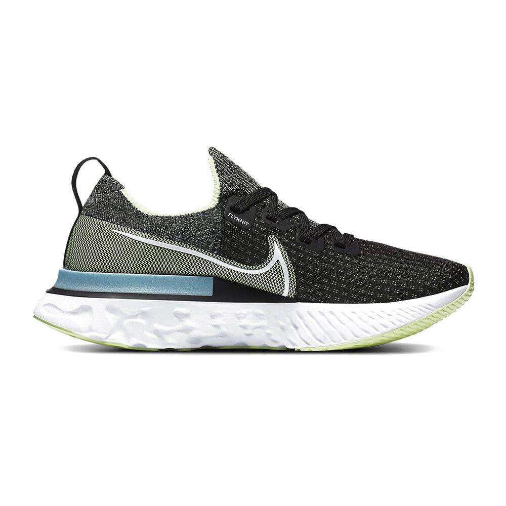 Nike Scarpe Running Epic React Infinity Nero Bianco-Barely Volt-Gl Donna EUR 39 / US 8