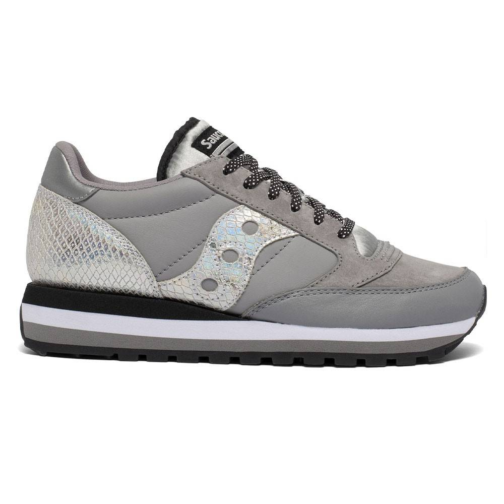 Saucony Sneakers Jazz Triple Snakeskin Grigio Argento Donna EUR 38 / US 7