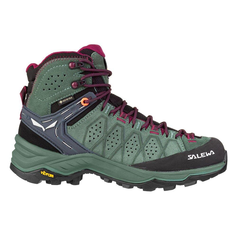 Salewa Pedule Trekking Alp Trainer 2 Mid Gtx Duck Verde Donna EUR 40.5 / UK 7