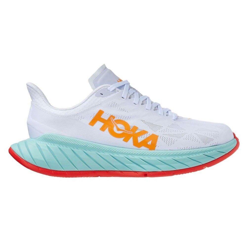 hoka scarpe running carbon x 2 bianco arancio uomo eur 44 / us 10
