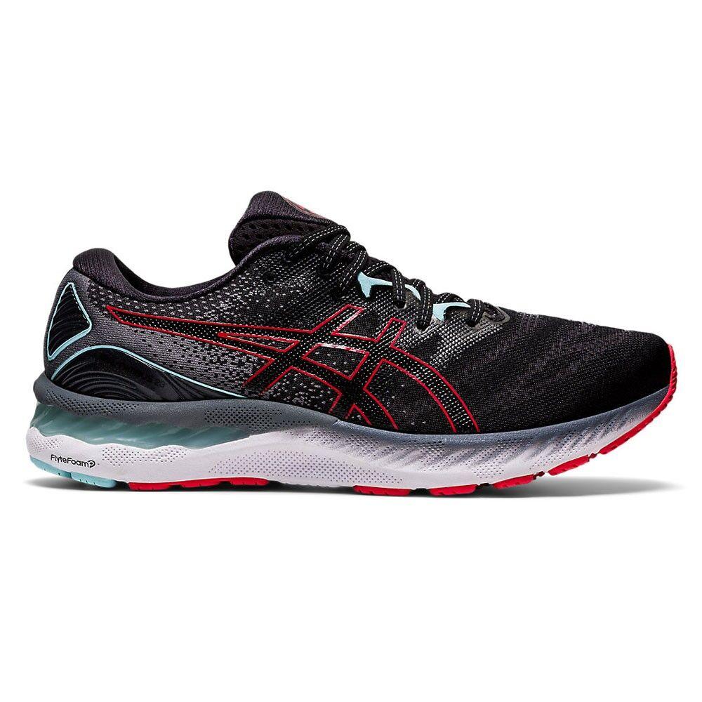 asics scarpe running gel-nimbus 23 nero rosso uomo eur 46,5 / us 12