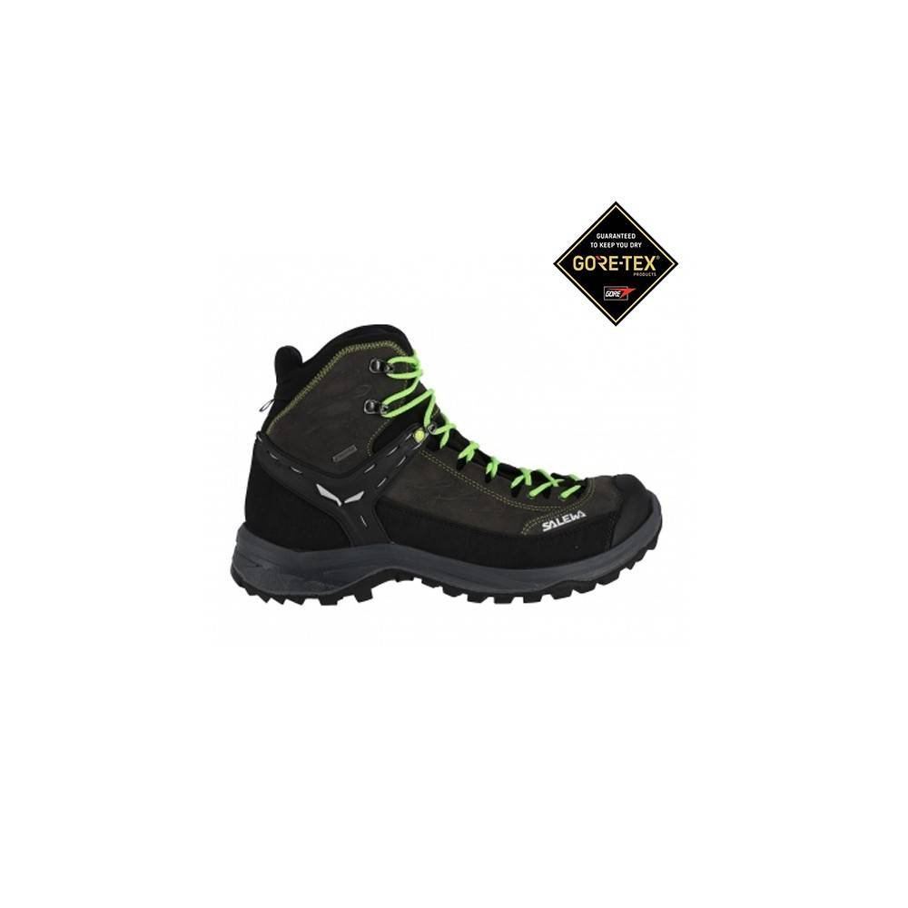 Salewa Pedula Hike Trainer Mid GORE-TEX Nero Verde Uomo EUR 43 / UK 9