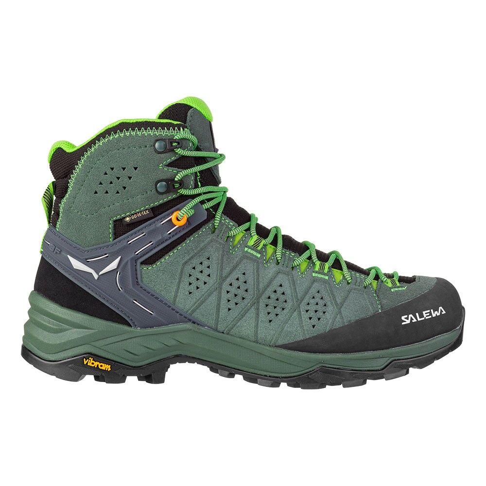 Salewa Pedule Trekking Alp Trainer 2 Mid Gtx Row Verde Uomo EUR 42 / UK 8
