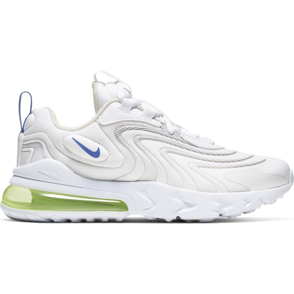 Nike Sneakers Air Max 270 React Eng Gs Bianco Viola Bambino EUR 36.5 / US 4.5Y