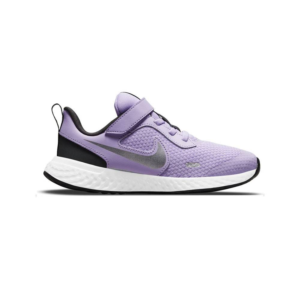 Nike Scarpe Ginnastica Revolution Ps Lilla Grigio Bambina EUR 33 / US 1.5Y