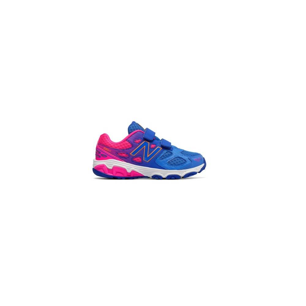 New Balance 680 Synthetic Velcro Ps/Gs Blu/rosa EUR 36,5 / US 4,5