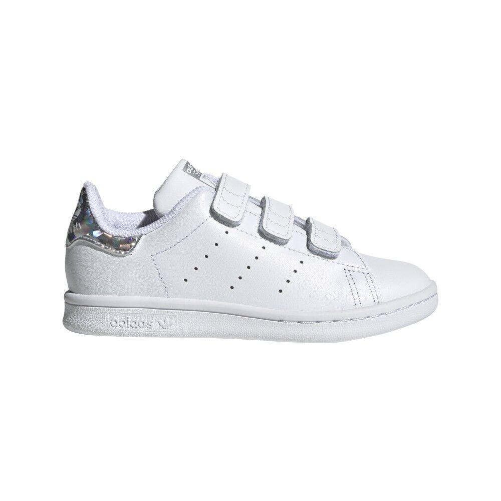 ADIDAS ORIGINALS sneakers stan smith cf c ps bianco argento bambino EUR 35