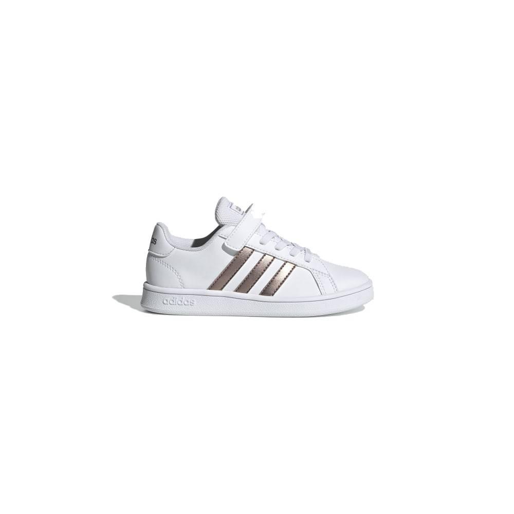 ADIDAS sneakers grand court c bianco oro metal bambino EUR 28 / UK 10.5k