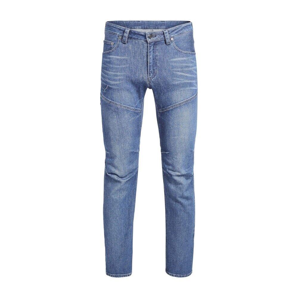 Salewa Pantaloni Trekking Agner Denim Jeans Blu Uomo EUR 52