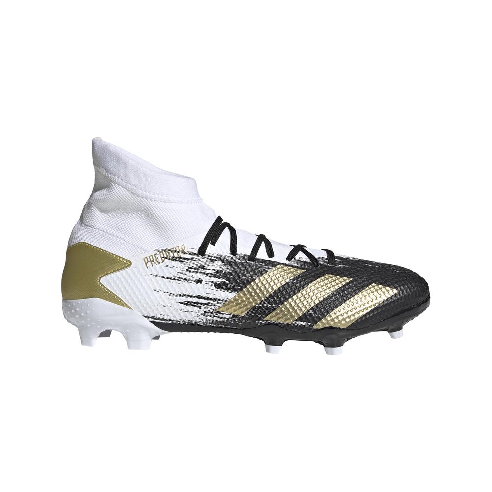 adidas scarpe da calcio predator 20.3 fg bianco oro uomo eur 40 / uk 6,5