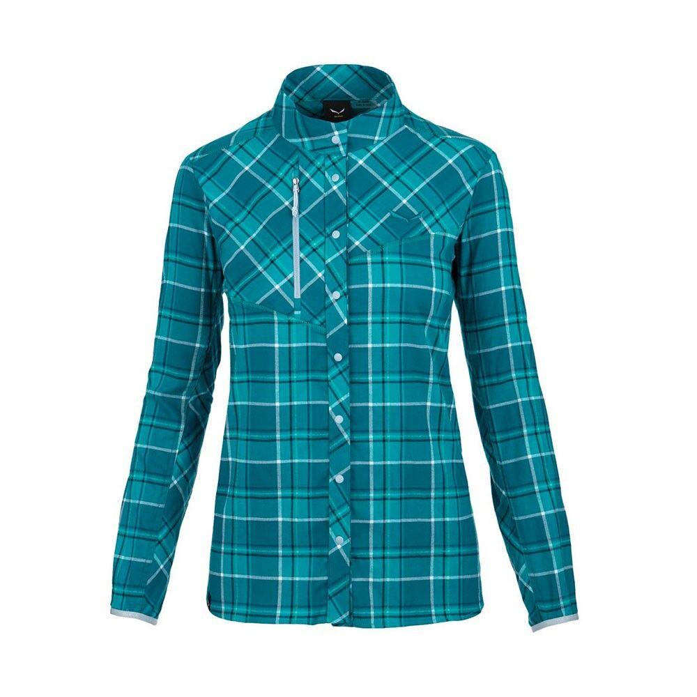 salewa camicia montagna fanes flannel malta petrolio donna eur 46