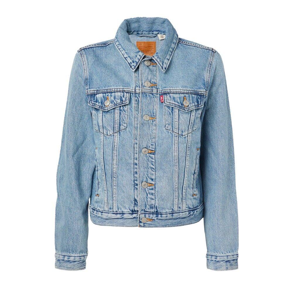 levi's giacca jeans blu medio donna s
