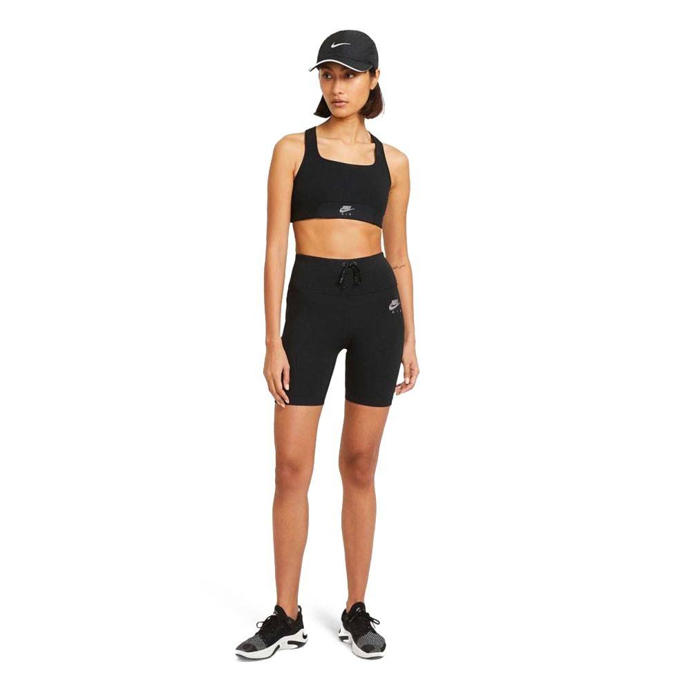 Nike Leggins Running Air Nero Silver Donna S