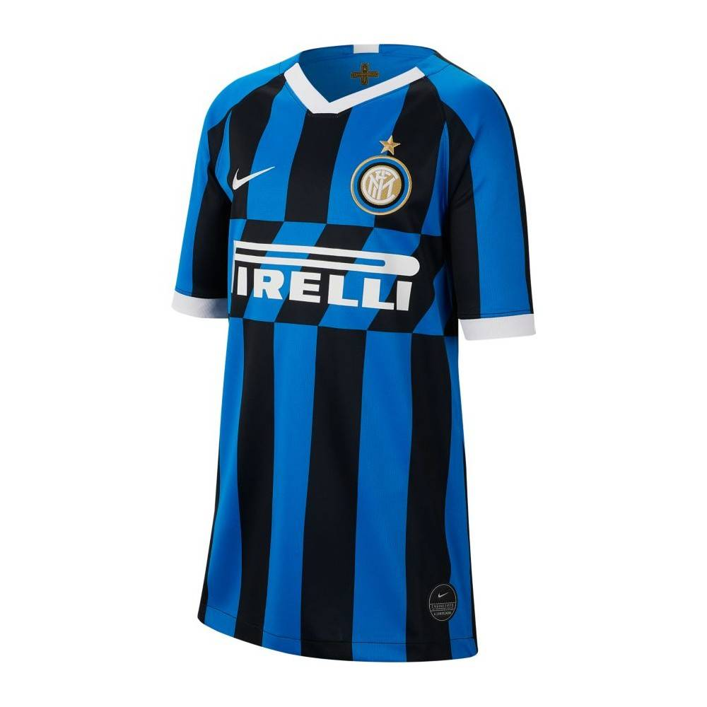 Nike Maglia Calcio Inter Home 19 20 Nero Blu Bambino S