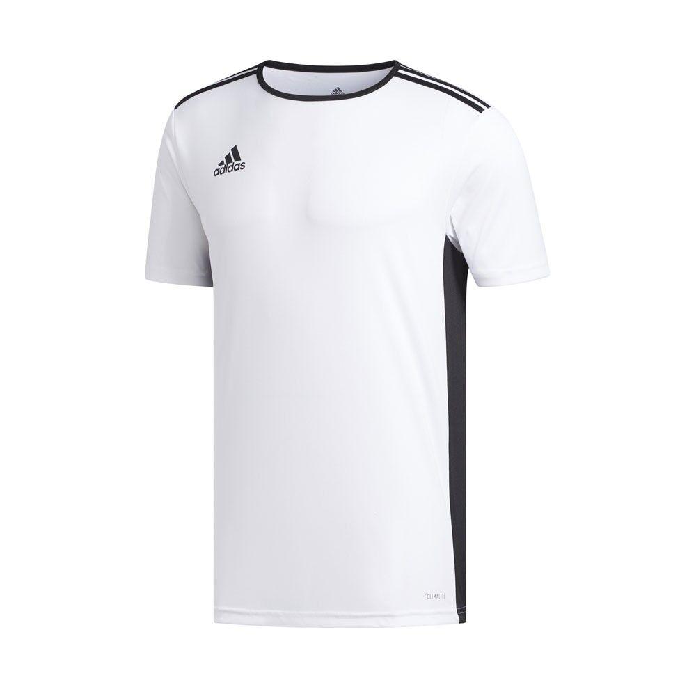ADIDAS maglia calcio entrada 18 team bianco nero uomo 5-6 Anni