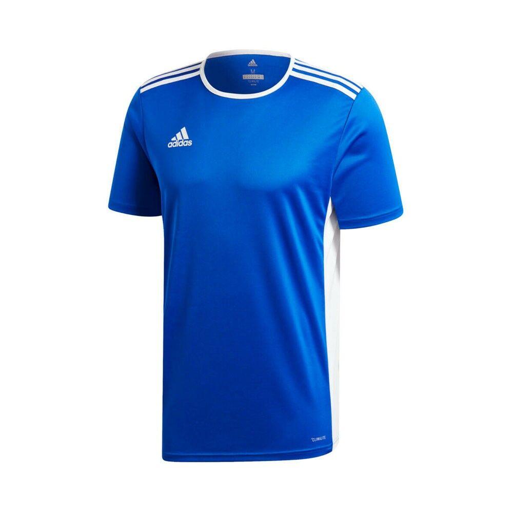 ADIDAS maglia calcio entrada 18 team blu royal bianco uomo 5-6 Anni