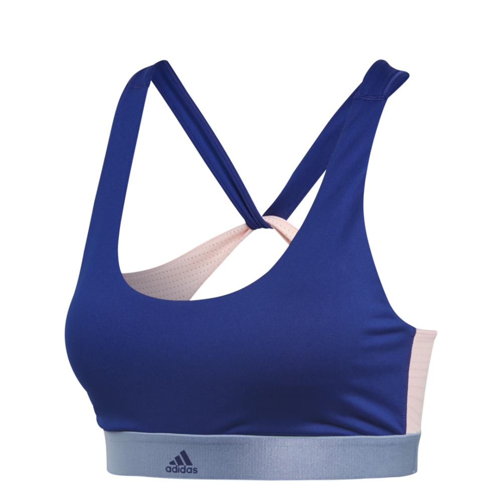 ADIDAS reggiseno sportivo all me blu donna XS