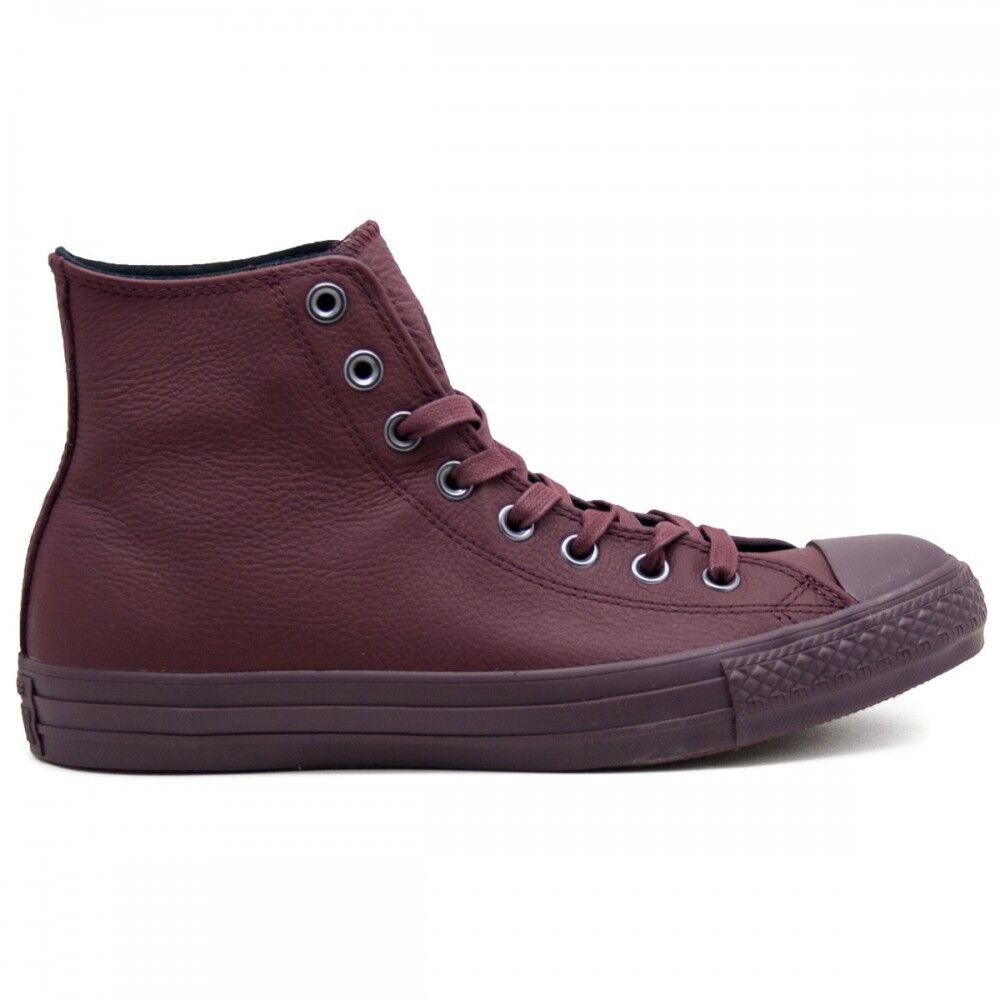 Converse All Star Hi Leather Monochrome Bordeaux Monochrome Unisex EUR 36 / US 3.5