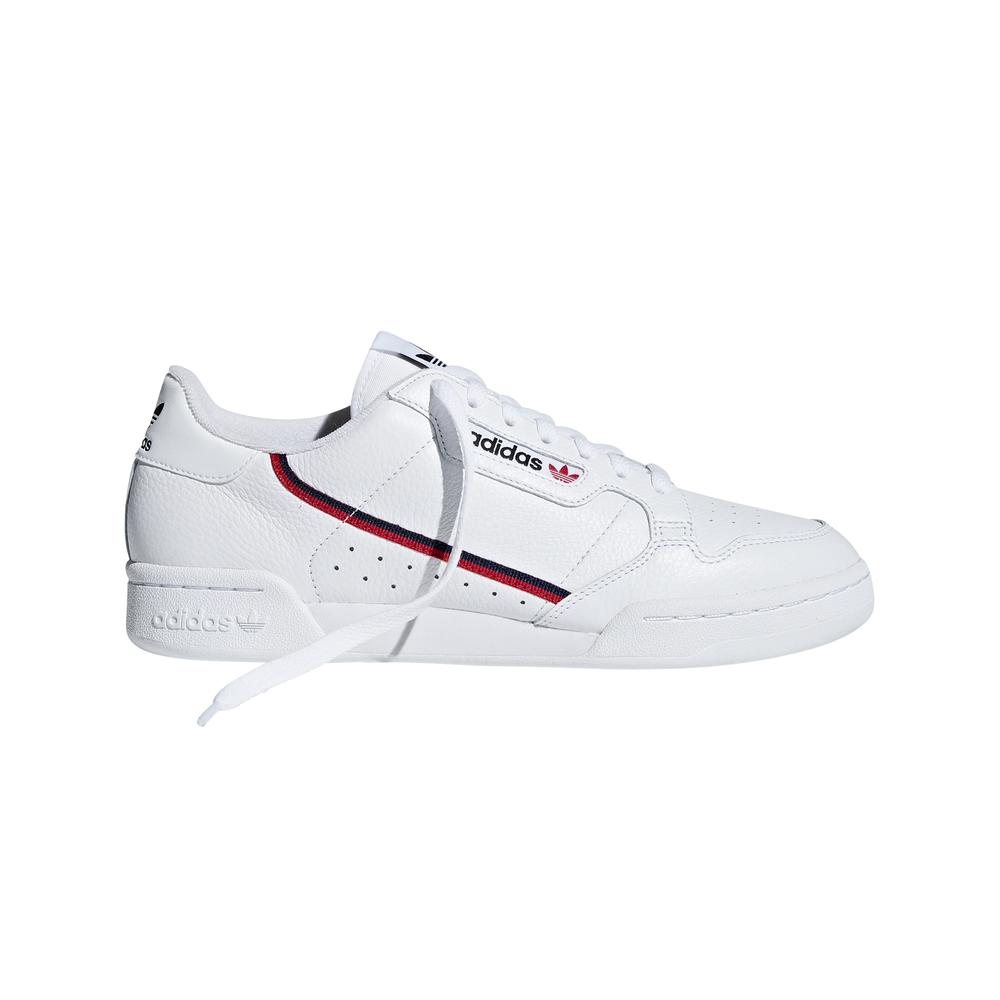 ADIDAS ORIGINALS sneakers continental 80 bianco rosso uomo EUR 42 2/3 / UK 8,5