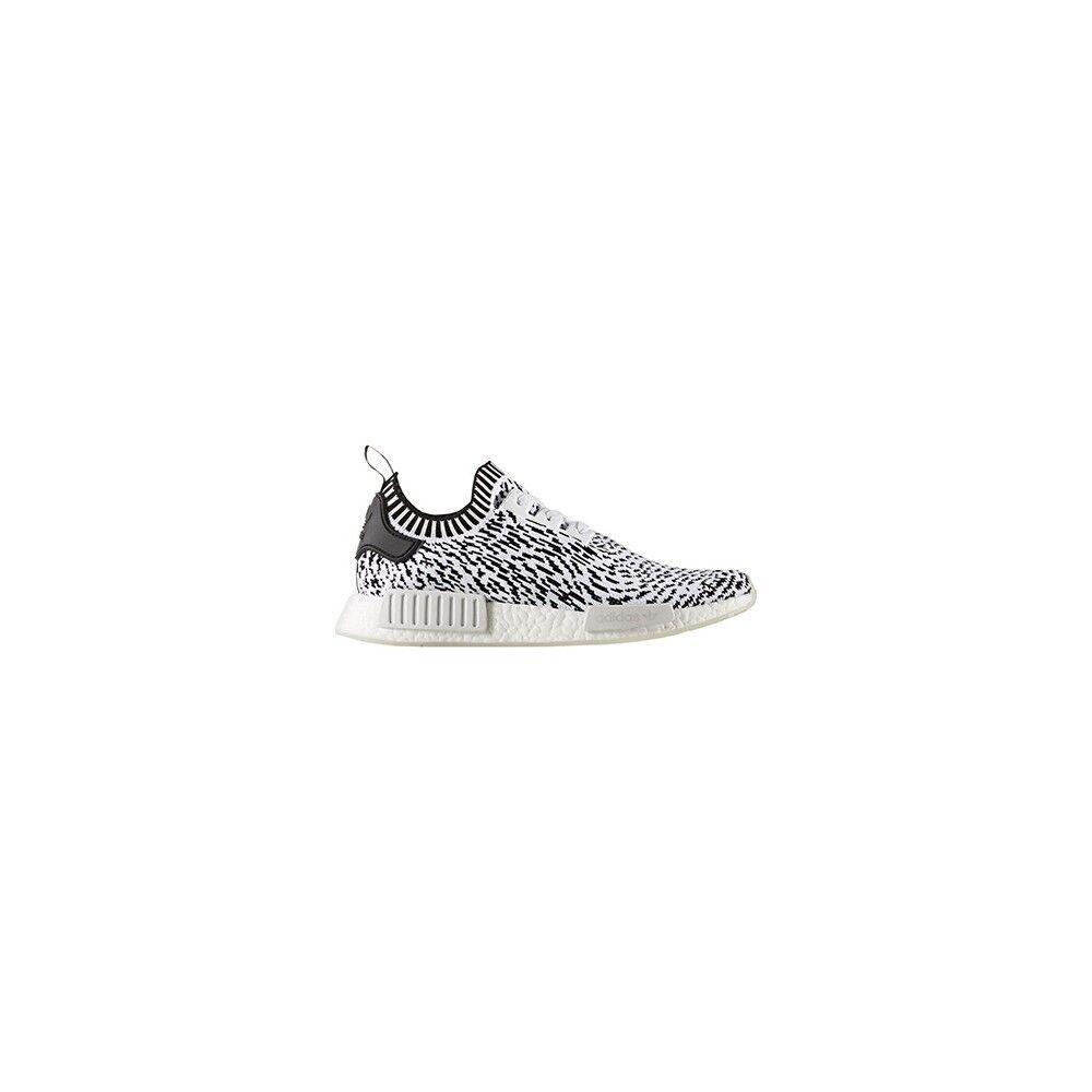 ADIDAS ORIGINALS sneakers nmd r1 primeknit bianco nero uomo EUR 46 / UK 11