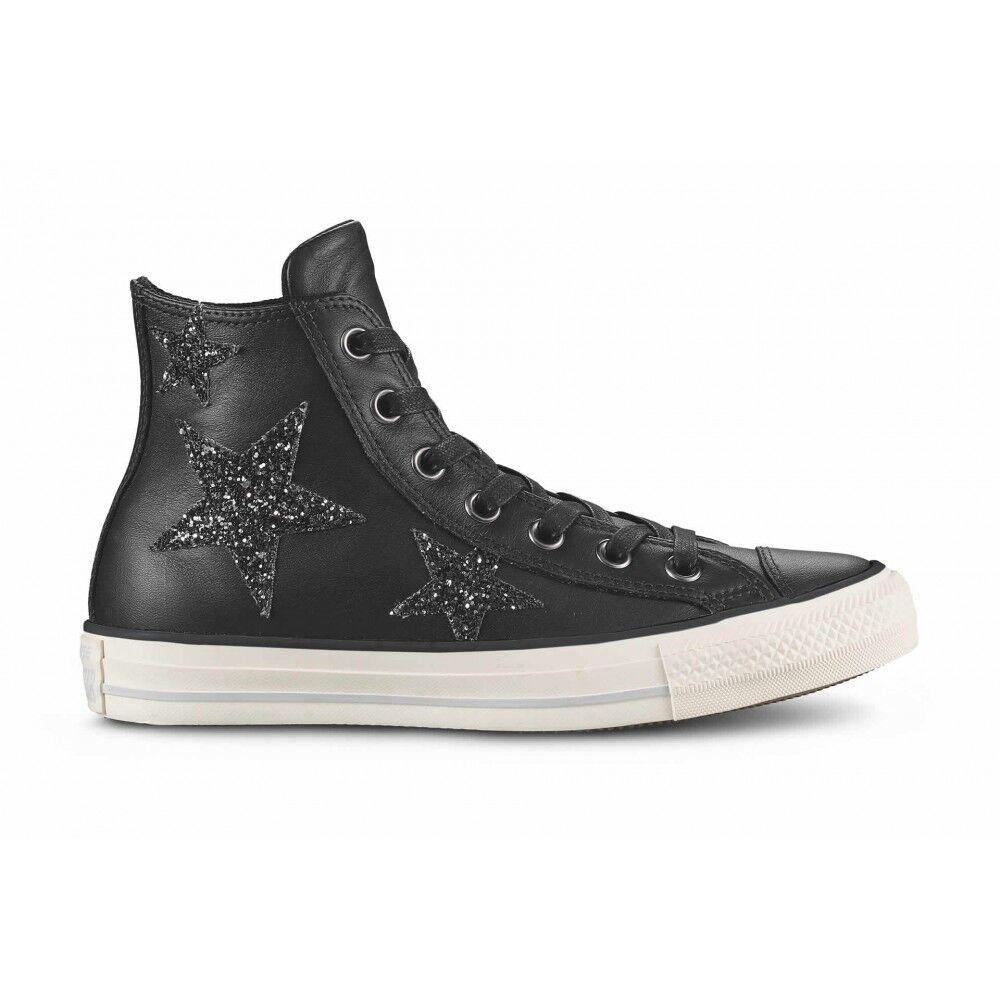 Converse Scarpa Donna Hi Glitters Stars Lea Black/Black EUR 37.5 / US 5