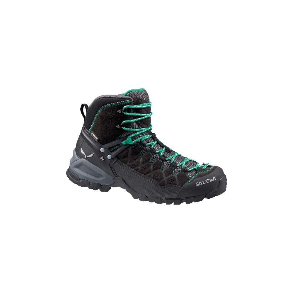 Salewa Pedule Trekking Alp Trainer Mid Gtx Nero Grigio Donna EUR 41 / UK 7.5